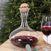 Wine Carafe With Personalised Oak Stopper - anniversary gifts