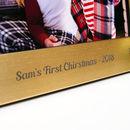 Personalised Baby's First Christmas Photo Frame