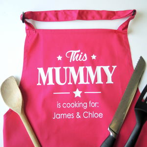 Personalised Mummy Apron - kitchen accessories