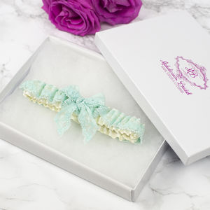 Simply 'Bow' Elasticated Lace Bridal Garter - bridal lingerie & nightwear