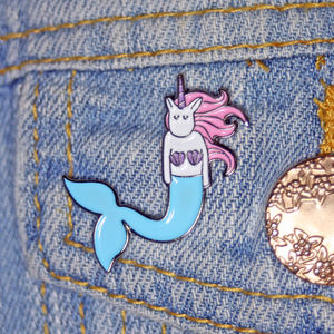 Mermaid Unicorn Enamel Pin
