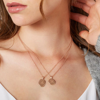 Women's Rose Gold Vermeil Initial Message Necklace