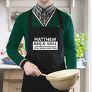 Personalised BBQ And Grill Black 100% Cotton Apron