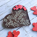 'To My First Valentine' Chocolate Heart