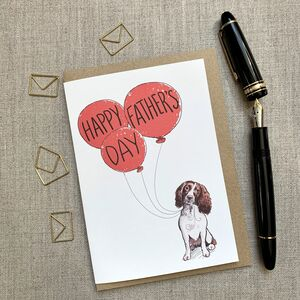 Father's Day Springer Spaniel Card
