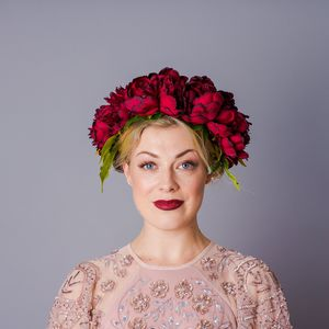 Winter Oversized Peony Crown - bridal hairpieces