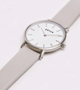 Petite Silver Vegan Watch - men's accessories