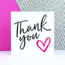 Typographic 'Thank You' Card