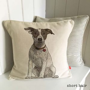 Jack Russell Feature Cushion - living room