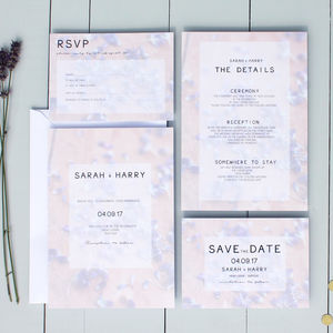 Lavender Floral Wedding Invitation - wedding stationery