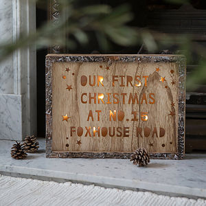 Personalised Christmas Wooden Light Box - children's lighting