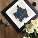 Personalised Wine Region Framed Print