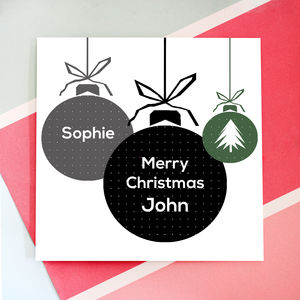 Personalised Christmas Bauble Card Pack - new lines added