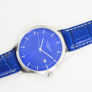 'Richmond' Blue And Silver Watch - watches