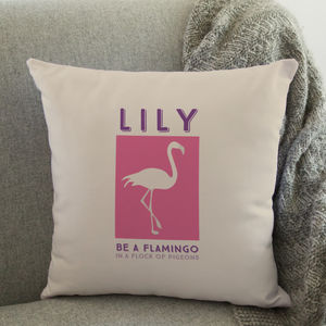 Personalised Flamingo Cushion - soft furnishings & accessories