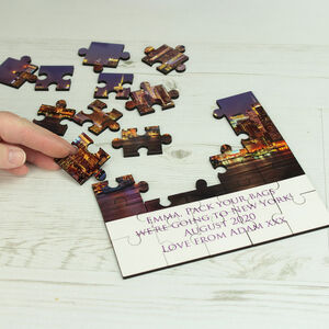 25 Piece Holiday Reveal Photo Puzzle With Message