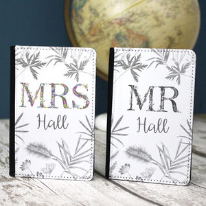 Couple's Honeymoon Passport Cover Wedding Gift - womens