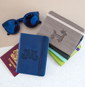 Personalised Passport Holder Eight Colours