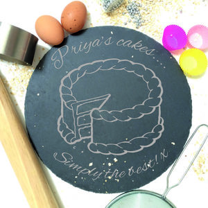 Personalised Cake Stand Or Cake Plate - kitchen