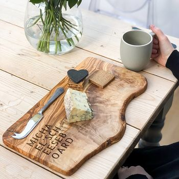 Personalised 'Stencil' Engraved Serving Board