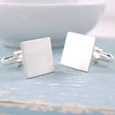 simple plain sterling silver cufflinks