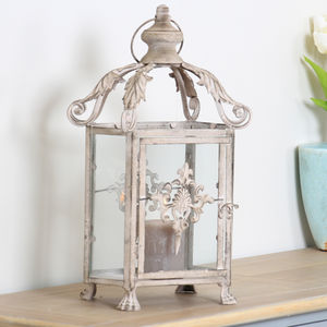 Ornate Rococo Distressed French Lanterns