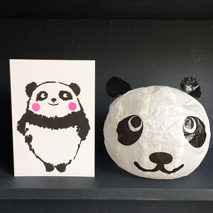 Panda Paper Balloon Greeting Card