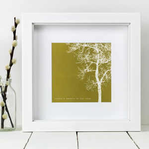 Framed 'Winter's Embrace Of Icy White' Tree Print - posters & prints