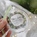 First Christmas As Mr And Mrs Wreath Flat Bauble