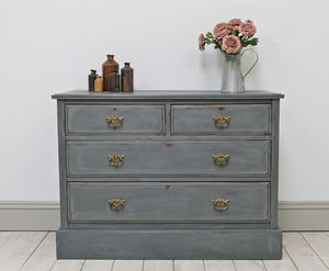 Distressed Mahogany Chest Of Drawers - furniture