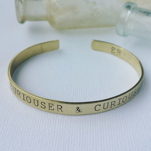 Curiouser And Curiouser Bangle - bracelets & bangles