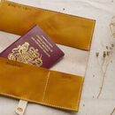 Personalised Leather Passport Travel Document Holder