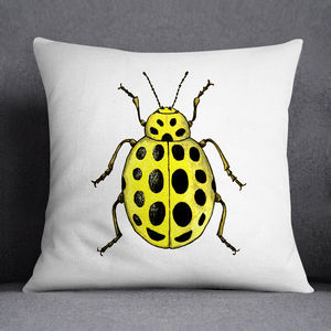 22 Spot Ladybird Illustrated Printed Cushion