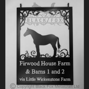 Horse Swinging Farm Sign