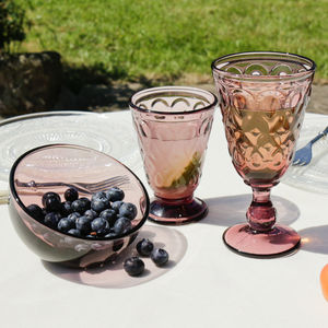 Amethyst Bevelled Alfresco Glassware
