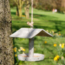 Contemporary Stone Effect Hanging Garden Bird House