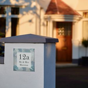 Personalised Wedding Diamonds House Number Gift