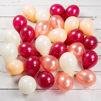 Pack Of 28 Berry Blush Mini Balloons