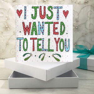 Personalised Will You Marry Me Christmas Book Card