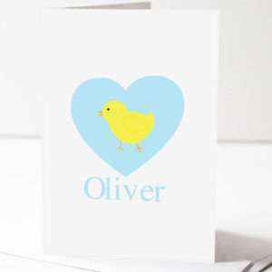 Personalised Easter Chick Card And Chocolates