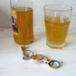 Bottle Opener Keyring With Coin