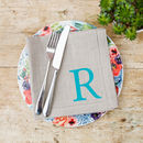 Personalised Linen Initial Napkin