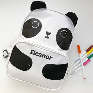 Personalised Panda Backpack - bags, purses & wallets