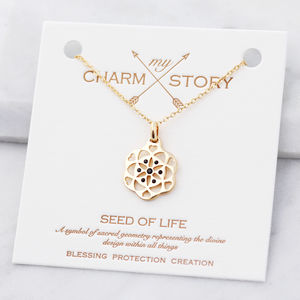 My Charm Story Seed Of Life Necklace - summer sale