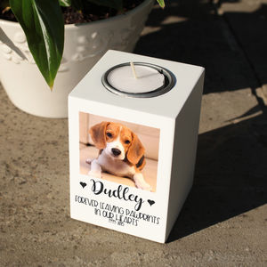 Personalised Pet Photo Memorial Tealight Holder - votives & tea light holders