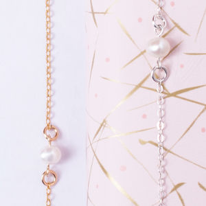Single Pearl Bracelet - wedding jewellery