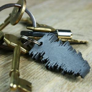 Favourite Song Sound Wave Keyring