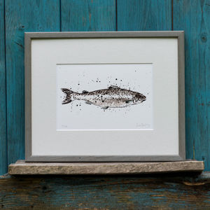 Limited Edition Salmon - limited edition art