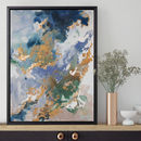 'Marino Stone' Framed Giclée Abstract Canvas Print Art