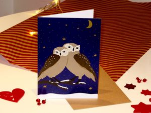 Twit Twit Two Christmas Card - christmas cards